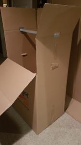 2 BUDGET WARDROBE MOVING BOXES