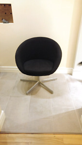 Chaise skruvsta ikea noir black lounge chair swivel club