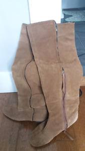 Used Suede Knee High Boot