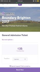 X2 tickets selling for boundary £40 each delivery or collection