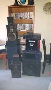 kenwood recevier with 6 speakers and a yamha sub woofier London Ontario image 1