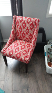 red high back chair for sale