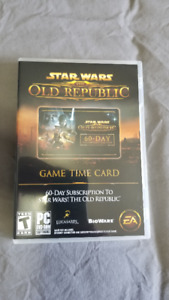 Star Wars The Old Republic - 60 Day Gametime Card - Only $25!