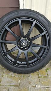 4 motegi 17 Inch rims with 90 percent Cooper tires