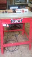 Freud router table