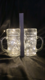 Pair of Giant Beer Stein Glasses