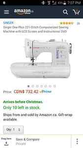 Brand new Singer One Plus sewing Machine. Peterborough Peterborough Area image 1