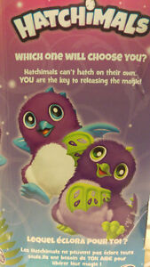 HATCHIMAL NEW IN BOX-Draggle,Purple and Blue egg,