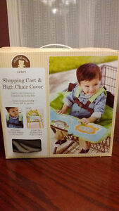Carters Shopping Cart and High Chair Cover, Neutral