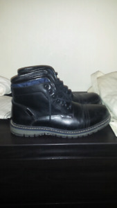 Black leather boots (size 10 mens)