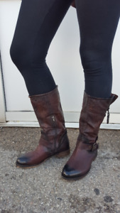 """""""Low"""" boots antiqued Pakros **NEW** REAL LEATHER"""