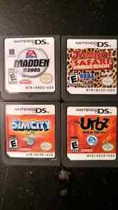 Nintendo DS Games Madden 2005 Jambo! Safari SimCity The Urbz
