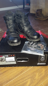 icon armor motorcycle boots size 9