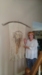 Unique Wall Hanging - Hand Woven