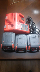 Milwaukee M18 Batteries & Charger