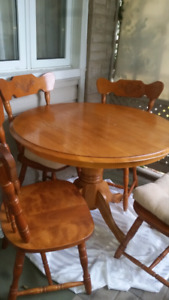 Table and 4 chairs solid wood for sale