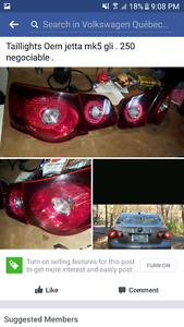 Jetta Mk5 Oem Gli taillights