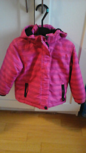 Winter jacket and snow pants  size 4