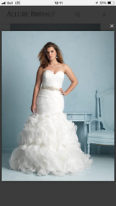 Allure wedding dress! Size 22 never altered or worn!