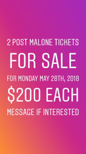 2 Post Malone Tickets $200 each