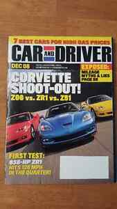 3 Car Magazines (Road and track/Car and Driver) Corvette