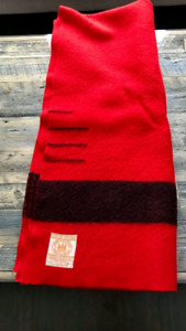 Red hbc wool blanket 4 point