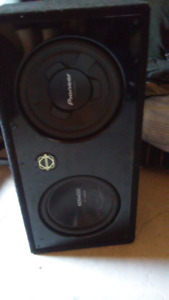 "Dual 12"" subs in bassworx box"