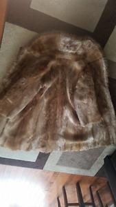 Blonde long-haired beaver coat