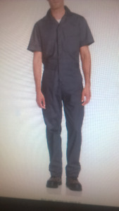 Berne Men's Poplin Short Sleeve Coverall,   New with tags