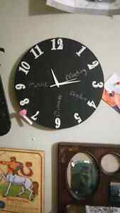 Daily scheduler clock one is a chalkboard  One is  awhite board