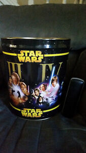 AWESOME LARGE STAR WARS METAL CANS SHOWS ALL 6 MOVIES!!!!!!!!!!! London Ontario image 5