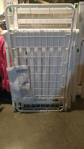 Two White Stella Cribs and Crib Mattresses