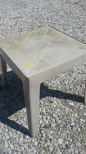 TWO Outdoor Plastic End Table