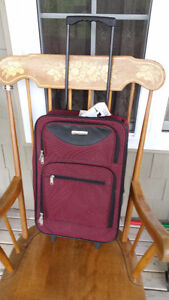 """New Small Carry On (Depart) Suitcase w/Wheels (19"""" x 13"""" x 6"""")"""
