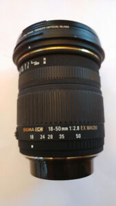 Pentax Sigma 18-50mm lens for sale