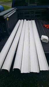"Heat pump lineset covers 8' x 4.5"" PVC"