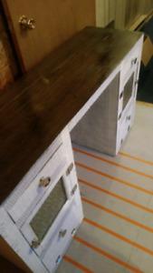 Vintage wicker desk