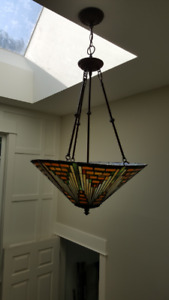 Mission style Tiffany Hanging Light
