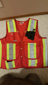 XL Work Safety Vest Surveyor's/Supervisor's Vest