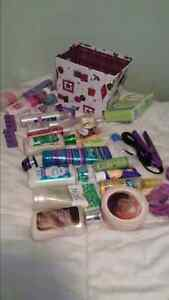 Lots of beauty products