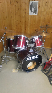 Mapex drums and sabian cymbals