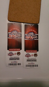 WANTED FRONT ROW ICE CAPS TICKETS FOR TWO