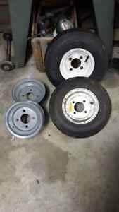 2  -   8 inch rims and 1 tire assembly