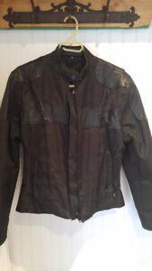 Manteau Screaming Eagle noir en Cordura étanche et cuir