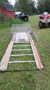 Sled Deck and Ramp for Sale