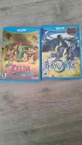 Wii u games Zelda and bayoneta