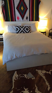 IKEA Malm Queen Size Bed Frame With Slats (mattress not include)