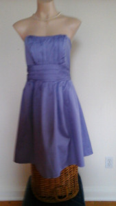 David's Bridal Classic Lilac cotton cocktail dress - Size 12 NEW