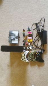Xbox 360 4GB w/ 3 controllers and 9 games