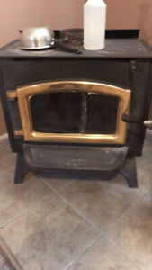 Wood stove and stainless pipe